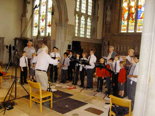 John Tobin and The Choristers of Reigate St Mary's, recorded by Sounds Special in 2007